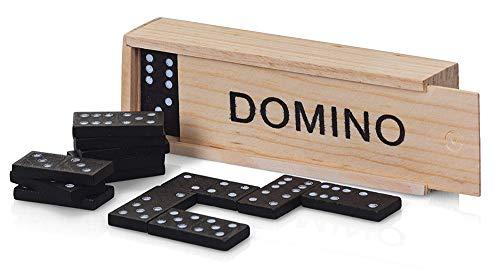 Vetrineinrete Domino in Legno con 28 Tessere 3 Pezzi Gioco da Tavolo Giochi di società per intrattenimento Pub Locali 59866 G69