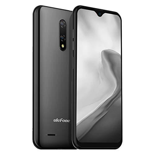 Ulefone Note 8P Handys - Android 10 GO-Betriebssystem Smartphones ohne Vertrag 4G Dual-SIM 2GB+16GB Speicher 5,5-Zoll-Display Simlockfreie Handys DREI Kartensteckplätze Dual-Kameras (Schwarz)