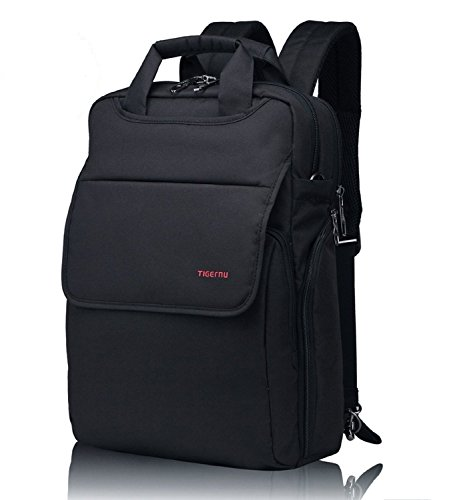 Fubevod Zaino a tracolla viaggio zaino scuola zaino Impermeabile per 14 Inch Laptop Nero