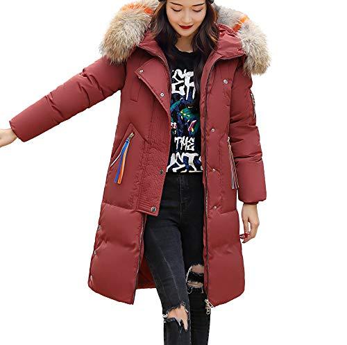 SOMESUN Damen Warme Lange Winterjacke Winter Modisch Plüsch Mantel Mit Kapuze Wildleder Winddicht Draussen Baumwolle Winterjacke Verdicken Wintermantel