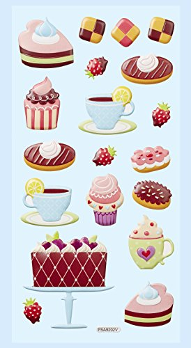 SOFTY-Sticker Cup-Cakes, Bogen 9,5 x 18 cm