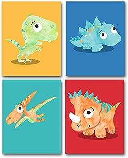 Lone Star Art Baby Dinosaurs - Set of Four Photos (8x10) Unframed - Great Nursery, Boy or Girl's Room Decor