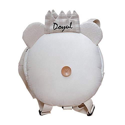 Toddler Backpack with Reins Cute Bear Shape Kindergarten Bag Zoo Design Rucksack for Boys Girls Cartoon Safety Anti-Lost Strap Backpack