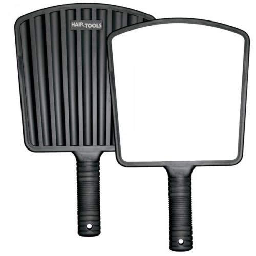 IBEAUTY - Miroir écologique pour cheveux avec dos noir - 20 x 21 cm