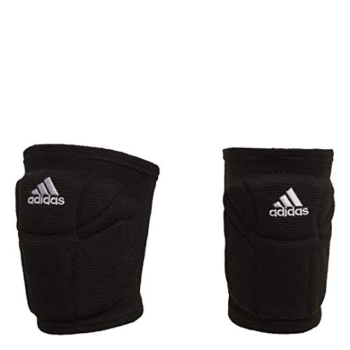 adidas womens Elite  Knee Pad, Black/White, Medium