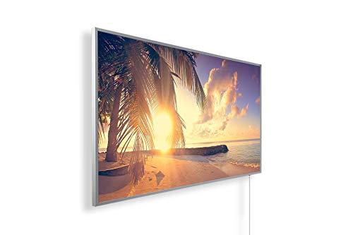Bildheizung Infrarotheizung mit Digitalthermostat - 5 Jahre Herstellergarantie - - Heizt nach dem Prinzip der Sonne(Palme, Strand 2,600)