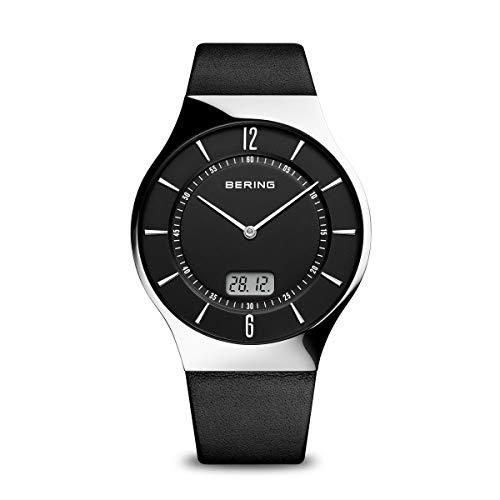 BERING Herren-Armbanduhr Analog Quarz Leder 51640-402