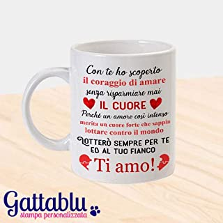 Tazza mug 11oz color dedica romantica PERSONALIZZATA CON I VOSTRI NOMI idea regalo per lui e lei per San Valentino!