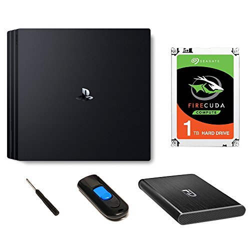 FD 1TB PS4 SSHD (Solid State Hybrid Drive) - Seagate FireCuda All in One Easy Upgrade Kit - Compatible with Playstation 4, PS4 Slim, and PS4 Pro (PS4-1TB-SSHD) by Fantom Drives