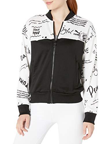 PUMA Damen Classics Track Jacket All Over Print Jacke zum Aufwärmen, Weiß, X-Large