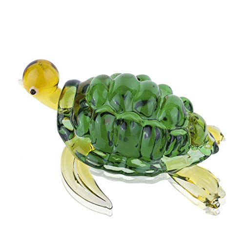 YU FENG Crystal Glass Animal Ornament Small Glass Turtle Tortoise Figurine Collections (green 2)