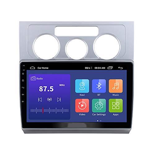 2 Din Auto Stereo Eingebauter Subwoofer, Mit HD Touchscreen Autoradio Multimedia Spieler Unterstützt GPS BT Lenkradsteuerung 1080P Video, Für Volkswagen Touran 2003-2010,A,WiFi 1+32