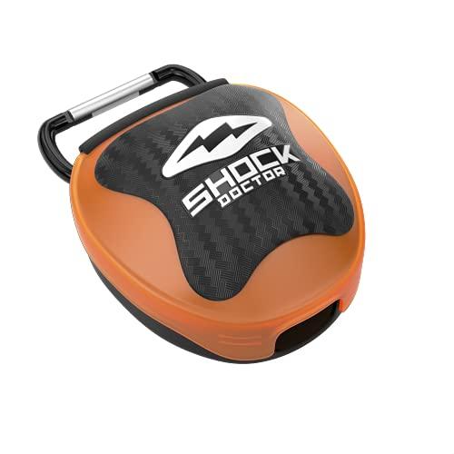 Shock Doctor Capa protetora bucal Mantenha seu protetor bucal limpo/seguro Reduz a exposição a bactérias e laranja