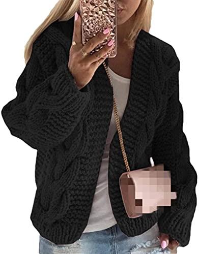 BUTERULES Women's Cardigan Solid Color Sweater Knitting Short Autumn Winter Jacket Coat