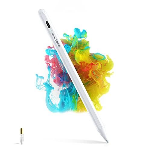 SmartDevil Penna per iPad, Palm Rejection, Per iPad Pro 2018-2021(11 12,9 in), iPad 6a-8a Gen(9,7 10,2 in), iPad Air 3a-4a Gen, iPad Mini 5, Aggancio magnetico, Punta da 1,5 mm, Spegnimento Automatico