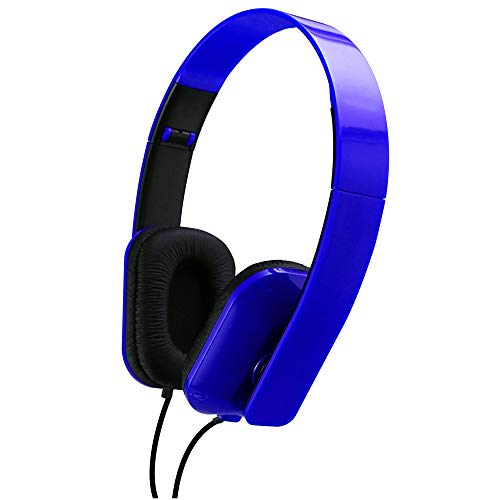 Sentry Folding Stereo Headphones - Blue