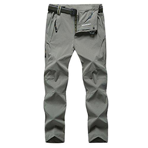 WALK-LEADER Vêtements de Sport pour Homme léger Respirant à séchage Rapide randonnée Pantalon de Montagne - Gris - XXXXX-Large