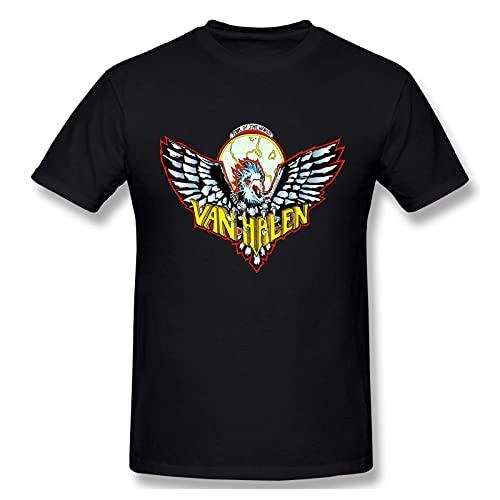 Van Halen Camiseta gr¨¢fica de Manga Corta de Algod¨®n para Hombres y j¨®Venes