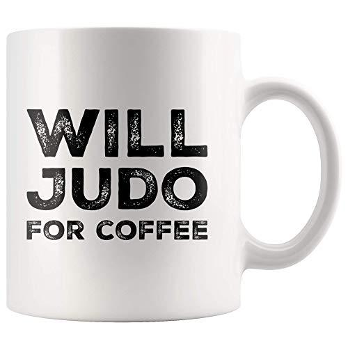 Martial Arts Sensei Becher wird Judo für Kaffeetasse Judo Lehrer Schüler Geschenkideen 11 Unzen Keramik Teetassen