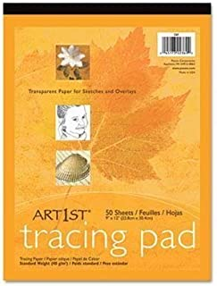 -- Art1st Parchment Tracing Paper, 19 x 24, White, 50 Sheets