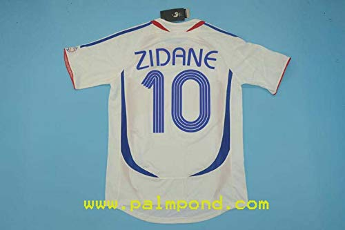 FM Zinedine Zidane France Away Retro Jersey 2006 (M)