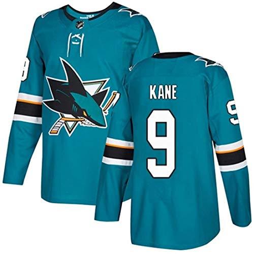 XIAORU Joe Pavelski 8 Joe Thornton 19 Evander Kane 9 Brent Burns 88 NHL San Jose Sharks Herren Eishockey-Kleidung Trainings-Trikots und -Zahlen,9,XXXL