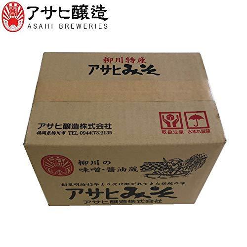 福岡県柳川 アサヒ醸造 田舎米味噌 10kg (ダンボール箱入)(10kg:米みそ)