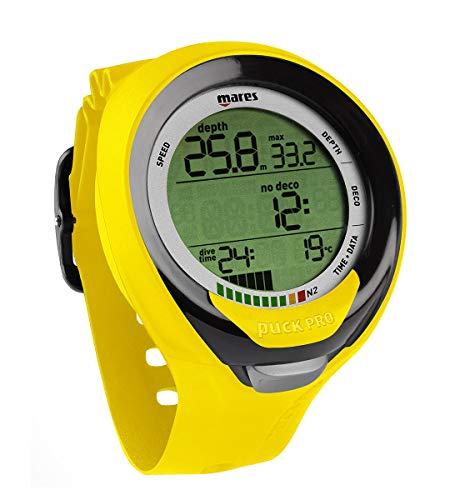 Mares Puck Pro+ Scuba Diving Wrist Computer, Yellow/Black