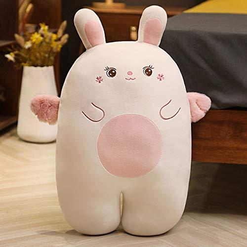 Kawaii Gordo de Peluche de Juguete de Peluche de algodón Conejo Animal muñeca Almohada niños Amantes del bebé Lindo Regalo de cumpleaños 95cm whitedot