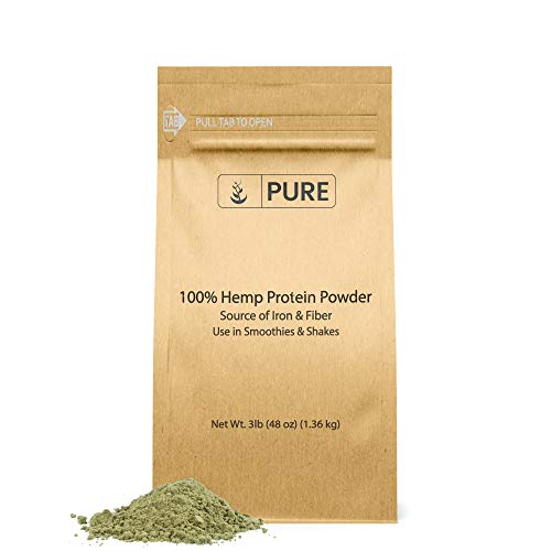 Hemp Protein Powder (3 lb) Smooth Texture, Nutty Flavor, Easy Mix in for Smoothies & Shakes, Source of Fiber & Iron
