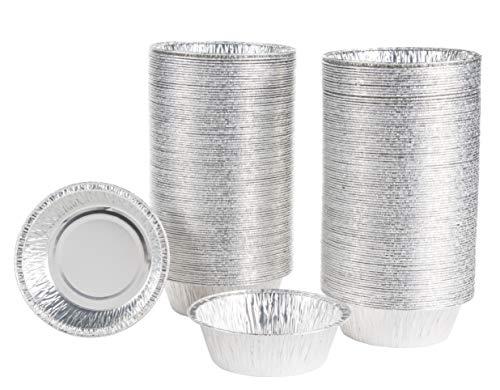 Kuchenform aus Aluminiumfolie, Einweg-Blechblech, 12,2 x 3,8 x 10,9 cm, 200 Stück