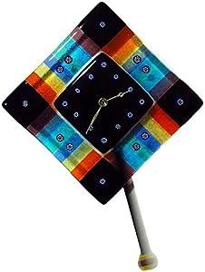 Timegoesby - Reloj de pared con péndulo de cristal de Murano
