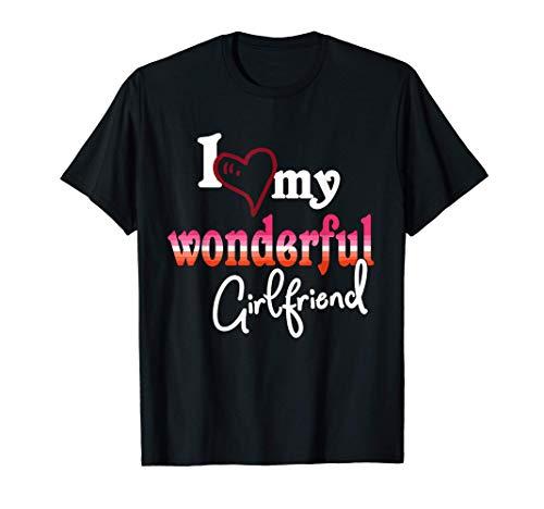 I Love My Wonderful Girlfriend Lesbian Pride Flag Camiseta