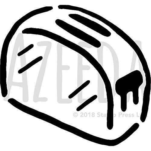 Azeeda Groß A2 'Elektrischer Toaster' Wandschablone / Vorlage (WS00028641)