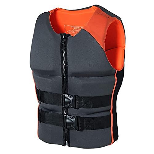 ZAYZ Mujer Hombre Chaleco Salvavidas, Chalecos de Snorkel por Lancha a la Deriva Flotabilidad Natación Flotante (Color : Orange, Size : 3XL)