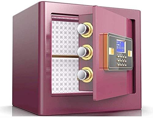 CHUXJ Pequeñas cajas fuertes for el hogar Seguridad personal gabinete cajas fuertes Password Safe Oficina de Acero caja fuerte de pared más espacio de almacenamiento, con características más gruesa pl