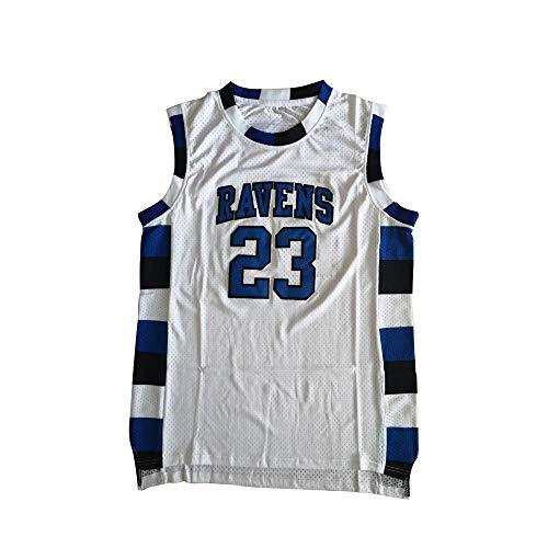 Mens Nathan Scott 23 Ravens Basketball Jersey Stitched Sport Movie Jersey White (XL)