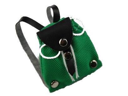 Unbekannt Rucksack Tasche - grün - Miniatur / für Puppenstube Puppenhaus - Maßstab 1:12 - Wanderrucksack / Wandern - Wanderurlaub Deko - Diorama