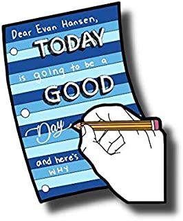 """Dear Evan Hansen """"Today is Going to Be a Good Day"""" Stickers - Set of 5 Coloring Broadway Stickers Inspired by Dear Evan Hansen, die-Cut, Bubble Free Vinyl. (2.48"""