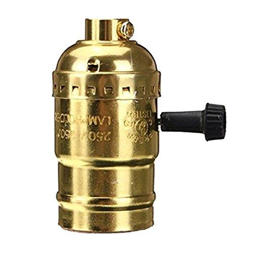 Tenflyer Lustre E27 Adaptateur de Douille Edison Retro Pendant Lampe Avec Interrupteur et Fil 110-220V