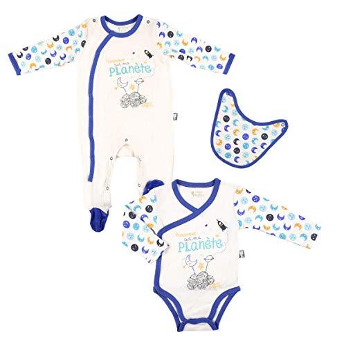 Petit Béguin - Kit naissance bébé garçon Petite Planète - Couleurs - Ecru, Longueur des manches - Manches longues, Taille - 9 mois (74 cm)