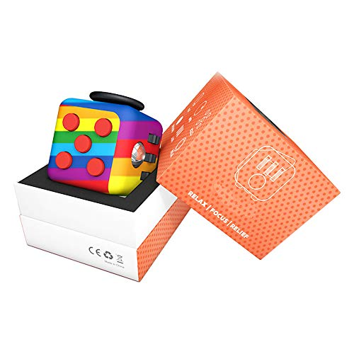 YMin Fidget Cube Stress Anxiety Pressure Relieving Toy Great for Adults and Children[Stress Reliever][Gift Idea][Relaxing Toy][Soft Material]
