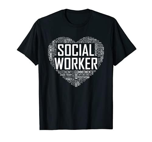 Social Worker T Shirt Love Month Gr…