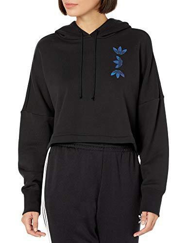adidas Originals Sudadera con capucha para mujer con logotipo grande - transparente - M