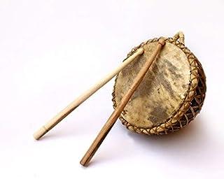 De Kulture funciona Nagada mano tambor con mellets | nagadi mano instrumento de percusión | Folk Percussion tambor | mundo instrumento tradicional | indio instrumento musical