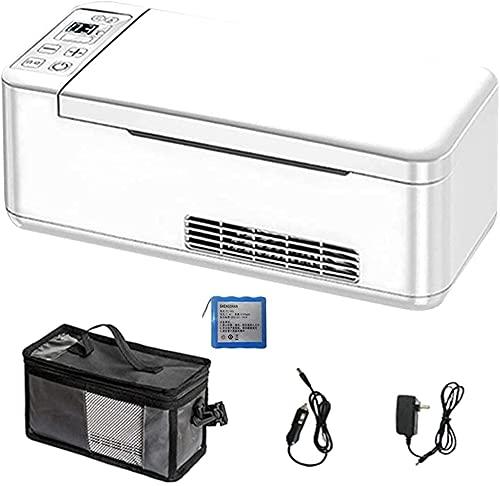 WXking Caja de refrigerador de insulina: Mini refrigerador, la batería con Motor se Mantiene 2-8, Trabajando libremente 11 Horas continuamente, con USB Adaptador de Coche, 1 batería de Litio