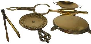 Mini Kitchen tools set, Kitchen tool set, Brass toys, Toys, Kitchen set for girls, Pretend Play set, Home Decoration, Vint...