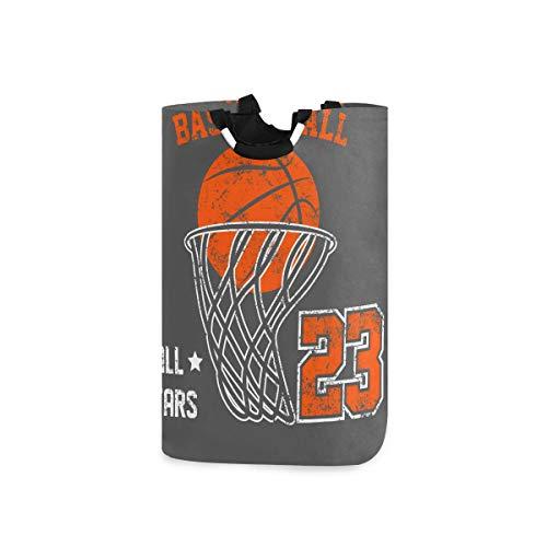 Mnsruu Wäschekorb, Basketball, kein tragbarer Wäschekorb, groß, faltbar, mit Griffen