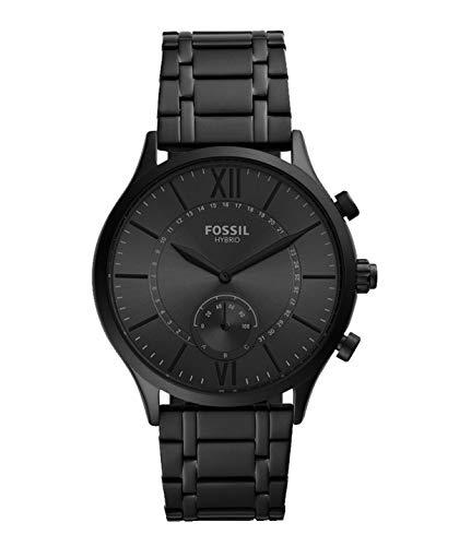 Fossil - Reloj Inteligente híbrido Fenmore con Correa de Acero Inoxidable en Tono Negro para Hombre BQT1103