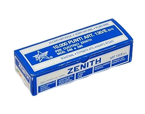 Zenith Punti Metallici Acciaio Naturale Art. 130/E (6/4) 1 Scatolina Da 10.000 Punti